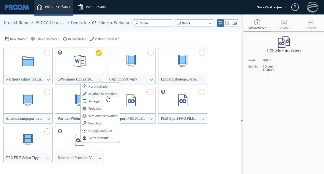 Neue Version 3.1. der Dokumentenaustausch-Plattform PROOM