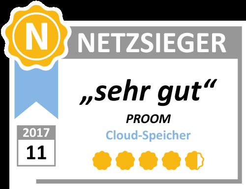 Dateiaustausch-Plattform PROOM im Test bei Netzsieger.de