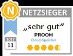 Netzsieger.de vergibt Top-Platzierung für die Dateiaustauschplattform PROOM