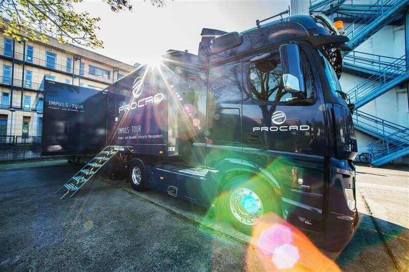 PROCAD Truck-Tour zur PLM Digitalisierung war ein voller Erfolg