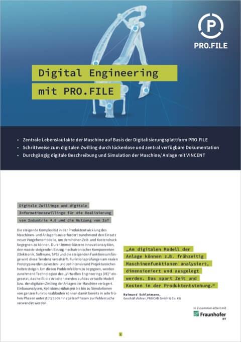 """Produktbeschreibung: """"Digital Engineering mit PRO.FILE"""""""