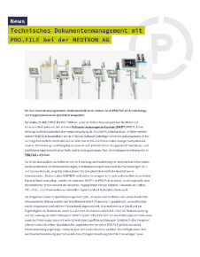 Pressebericht Medtron AG
