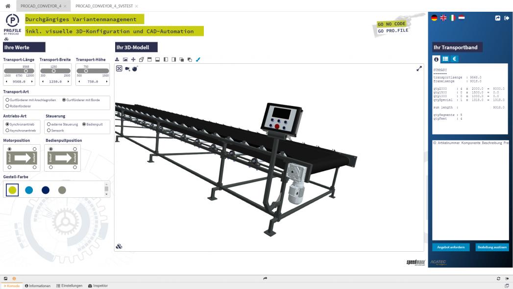 Konfigurator mit Visualisierung