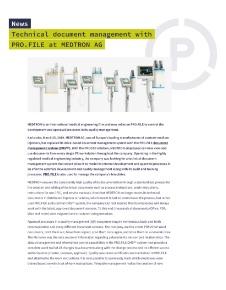 Press release Medtron AG