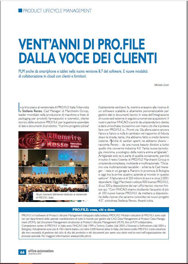 20 anni di PRO.FILE in Italia